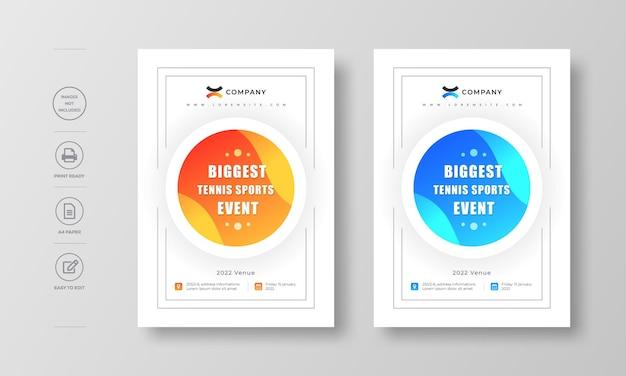 企業のモダンなチラシポスターと本の表紙のデザイン