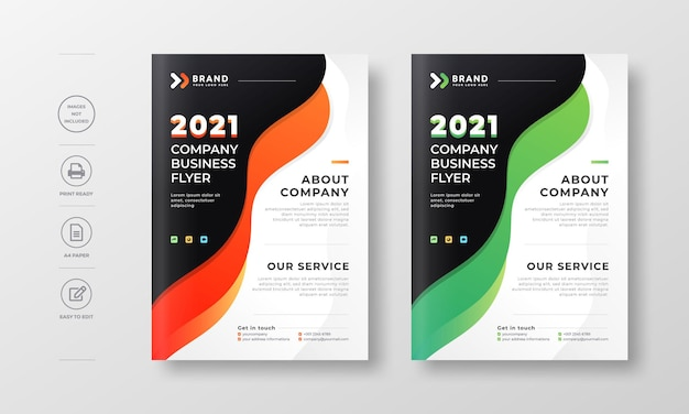 Corporate modern flyer poster and book cover design