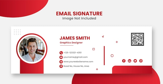 Corporate modern and professional email signature for website