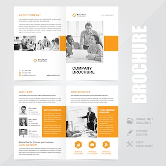 Corporate multipurpose a4 brochure vector design template