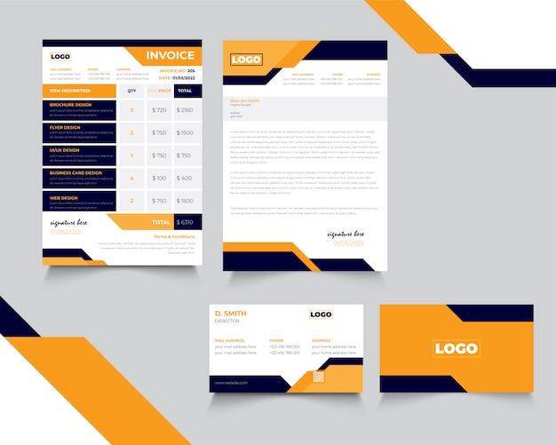 Corporate new stationary design premium