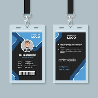 Corporate office identity card template