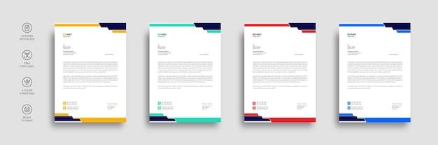 企業またはビジネスのレターヘッドテンプレートデザイン