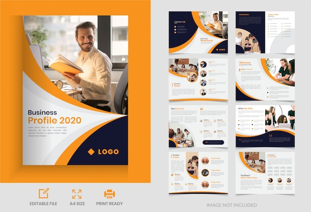 Corporate page business brochure  design