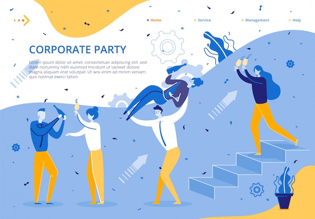 Corporate party for company business employees