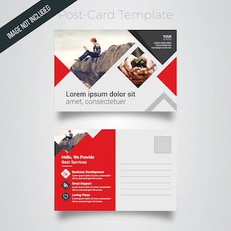 Corporate postcard template with rectangle image