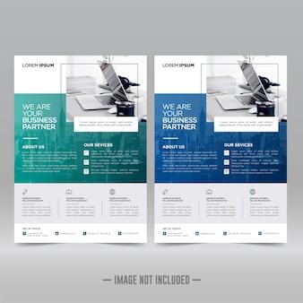企業のポスター、チラシデザインテンプレート