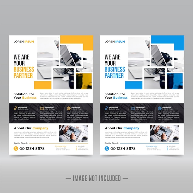 Corporate poster, flyer template