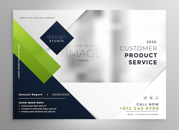 Corporate presentation brochure template in geometric style