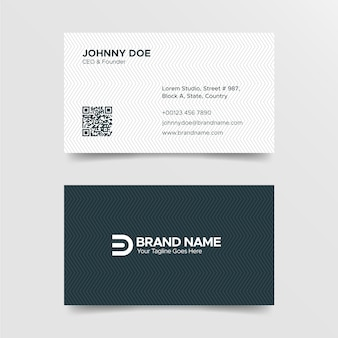 Corporate professional black and white business card template