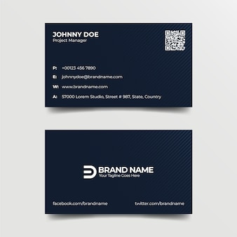 Corporate professional blue business card template