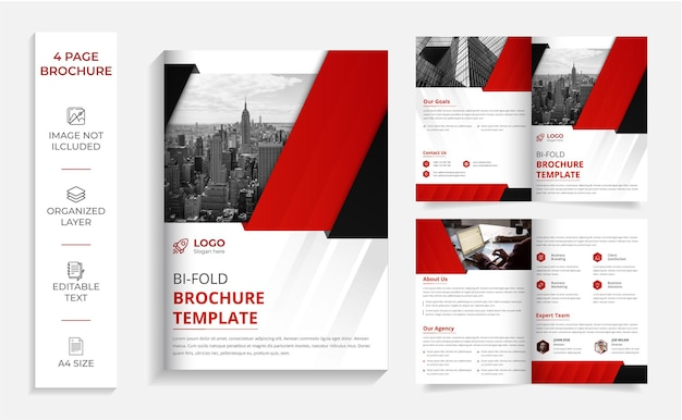 Corporate professional modern bi-fold brochure design template