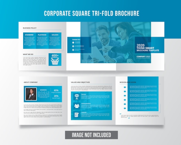 Corporate professional square trifold brochure