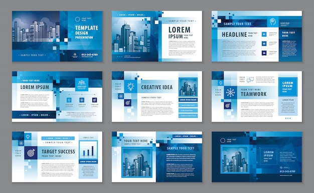 Corporate profile, business presentation catalogue design template