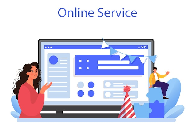 Corporate relations online service or platform. business ethics. corporate organization development and compliance. company policy course for employees. flat vector illustration