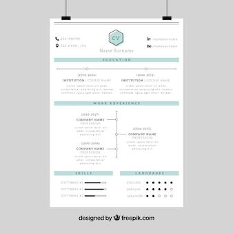 Corporate resume template