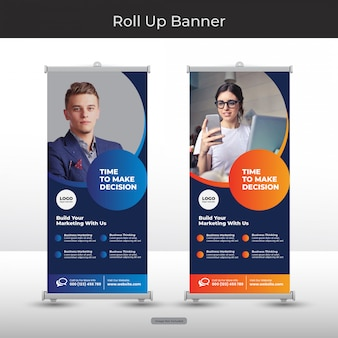 Corporate roll up banner set
