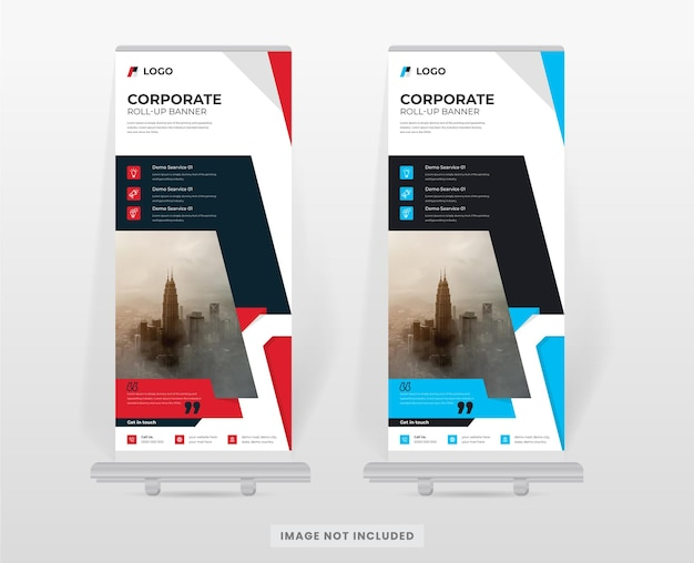 Шаблон оформления корпоративного баннера roll up