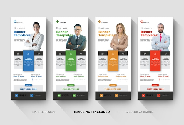 Corporate roll up banner templates