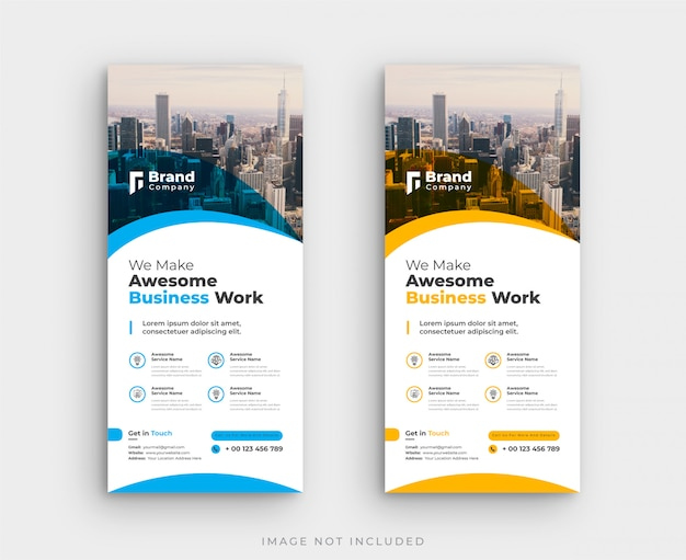 Corporate roll up standee banner template