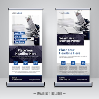 Corporate rollup or banner design template