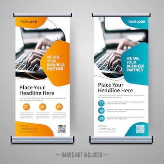 Corporate rollup or  banner  template