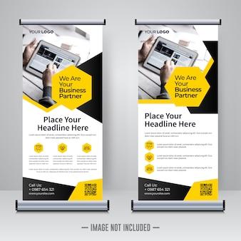 Corporate rollup design template