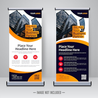 Corporate rollup design template