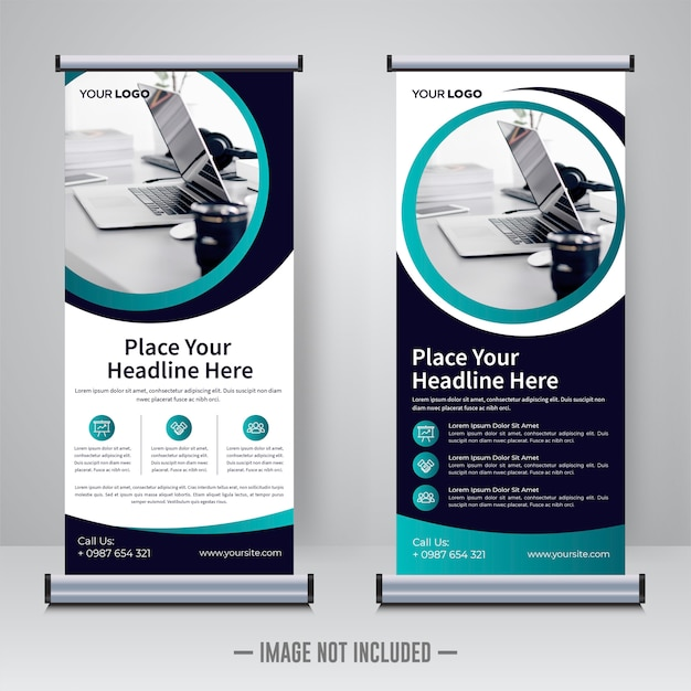 企業のロールアップまたはxバナーデザインテンプレート