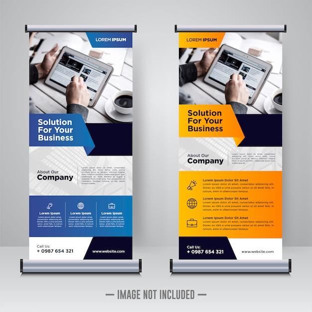 企業のロールアップまたはxバナーのデザインテンプレート