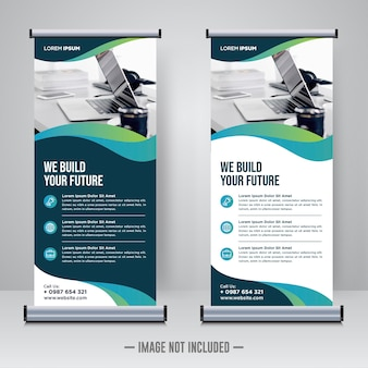 Corporate rollup or x banner design template