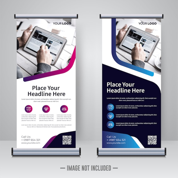 Corporate rollup or x banner template