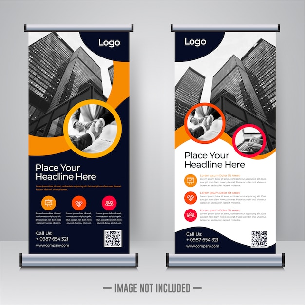 Corporate rollup or xbanner design template