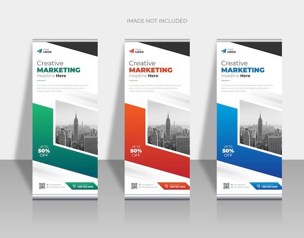 Corporate rollup xbanner template design