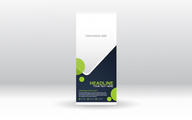 Corporate rollup xbanner template design