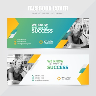 Corporate social media facebook banner vector template