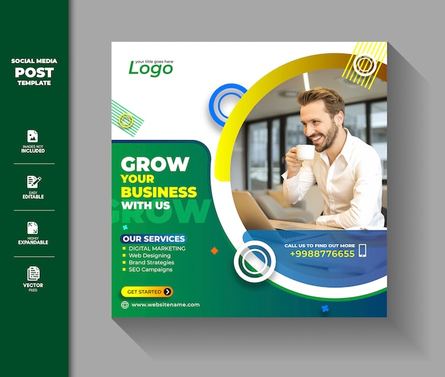 Corporate social media post square banner digital marketing business promotion