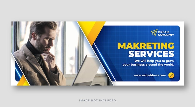 Corporate social media web banner or facebook cover template