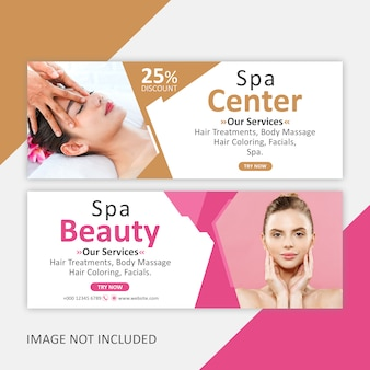 Corporate spa banner template
