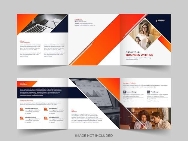 Corporate square tri-fold brochure