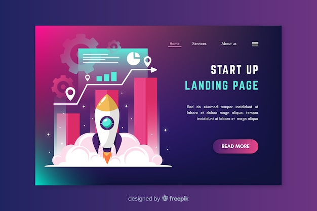 Corporate start up landing page design