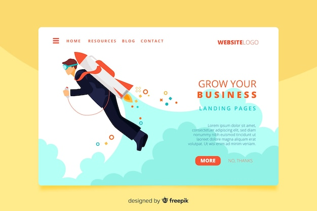 Corporate startup landing page template