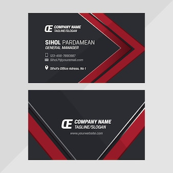 Corporate stationary vector business card horizontal template design
