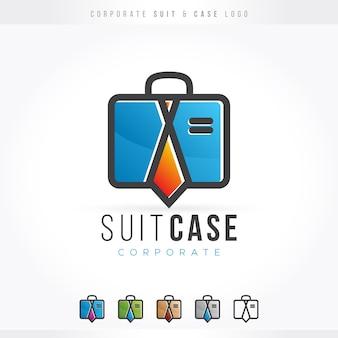 Corporate suit case logo