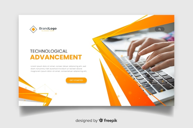 Corporate technology landing page