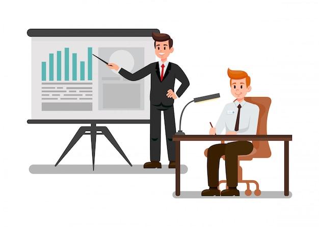 Corporate training flat vector illustration.