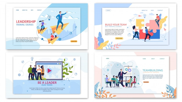 Corporate training teambuilding website template set