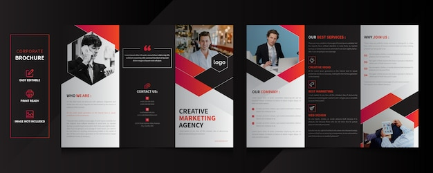 Corporate tri-fold brochure template design
