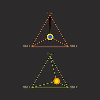 기업 삼각 그래프 요소 벡터
