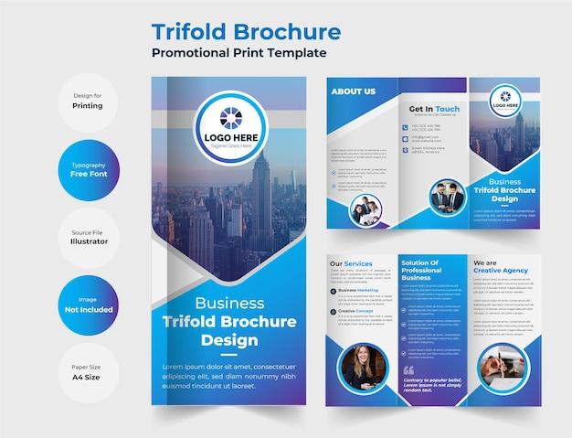 Corporate trifold brochure modern design